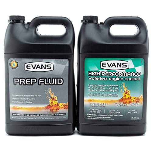 EVANS Coolant EC53001-EC42001 High Performance Waterless Coolant and Prep Fluid Combo Pack, 2 Gallon