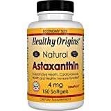 Healthy Origins, astaxantina, 4 mg, 150 capsule