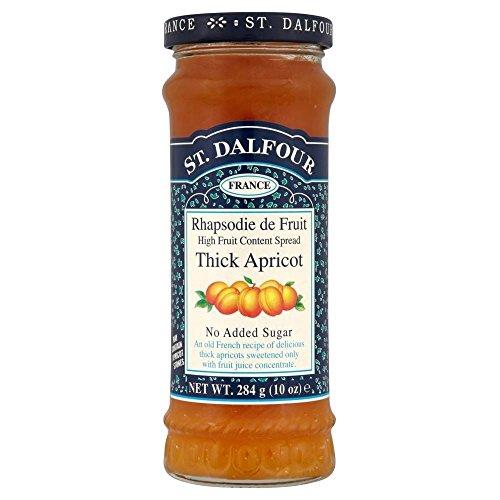 St. Dalfour Rhapsodie de Fruit Thick Aprikosen-Marmelade (284g) - Packung mit 6