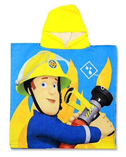 SETINO 821-454 Feuerwehrmann Sam Kinder Bade-Poncho mit Kapuze 55 x 80cm