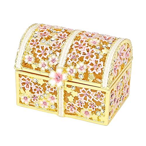 WYFDC Caja de joyería japonesa de gama alta con diseño de flor de cerezo