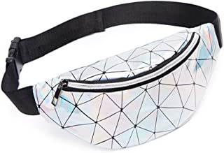 Holographic Fanny Pack for Women Men Kids-Cute Shiny Waist Bag Belt Bags for Festival, Party, Rave, Running, Traveling