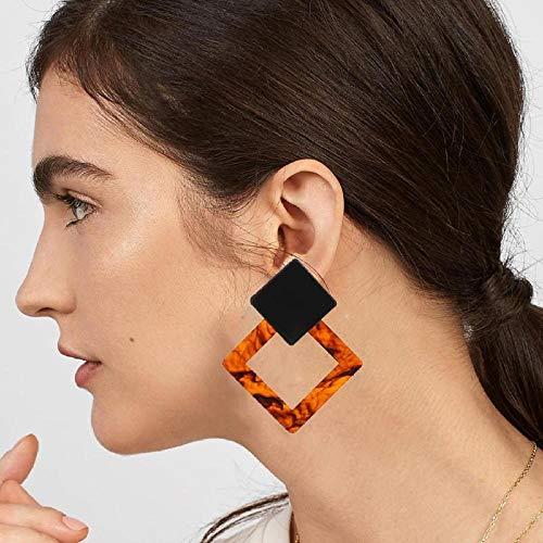 Erin Earring Personalisierte Trapez Große Lange Acetat Ohrringe Weibliche Rechteckige Tor Tor Ohrringe Za Schmuck Geschenk