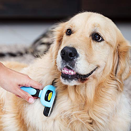 DakPets Pet Grooming Brush - Professional Deshedding Tool for Dogs and Cats Short Hair and Long Hair. Effectively Reduces Pet Hair Shedding by up to 95%