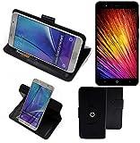 K-S-Trade Handy Hülle Für Leagoo Z7 Flipcase Smartphone Cover Handy Schutz Bookstyle Schwarz (1x)