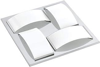 Klassiek tijdloos IP44 badkamerlamp badkamer LED chroom wit glas roestvrij staal