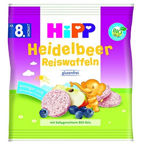 Hipp Bio Knabberprodukte Heidelbeer Reiswaffeln, 7er Pack (7 x 30 g)