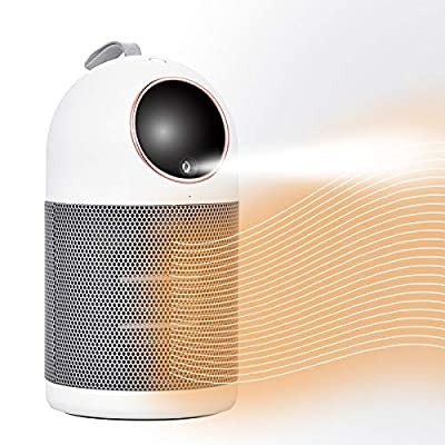 Space Heater with Humidifier, Portable Heater Desk Electric Heater for Indoor Use Multi functional Room Heater for Home Small Space Heater Ceramic Heater Tip-Over Overheat Protection Safe Quiet