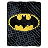 "Super Plush Batman Throw 46""x60"" Machine Washable 100% Polyester"