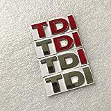 ZKDY Car Badge Emblem Usato per For Polo Golf GTI Passat B5 B6 Touran, Nuevo Metal TDI Emblema de la Insignia de la Etiqueta del Pegatinas Coches de Estilo Car Decal Sticker (Color : All Red)