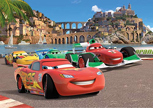 AG Design FTD 2221  Cars Disney, Papier Fototapete - 360x254 cm - 4 teile, Papier, multicolor, 0,1 x 360 x 254 cm