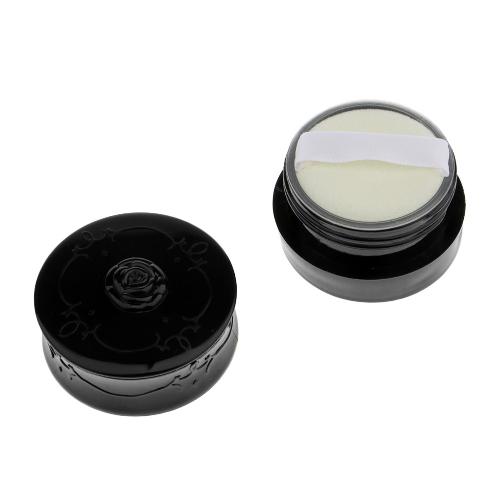 Milageto Travel Fashion Empty Makeup Max 54% OFF Loose Pu Case Container Powder with