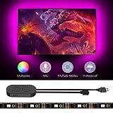 WOSOSYEYO Tira de luz LED USB 24 Colores cambiantes Cadena Cinta Cinta RGB LED TV retroiluminaci/ón con Control Remoto