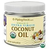 Piping Rock Organic Extra Virgin Coconut Oil 16 Fl Oz (473 mL) Dietary Supplement