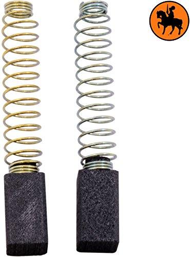 Kohlebürsten für BLACK & DECKER DNJ552 Heckenschere -- 6,3x6,3x11mm -- 2.4x2.4x4.3''