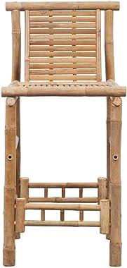 vidaXL 2X Tabouret de Bar Bambou Salle à Manger Cuisine Bistrot Chaise Haute