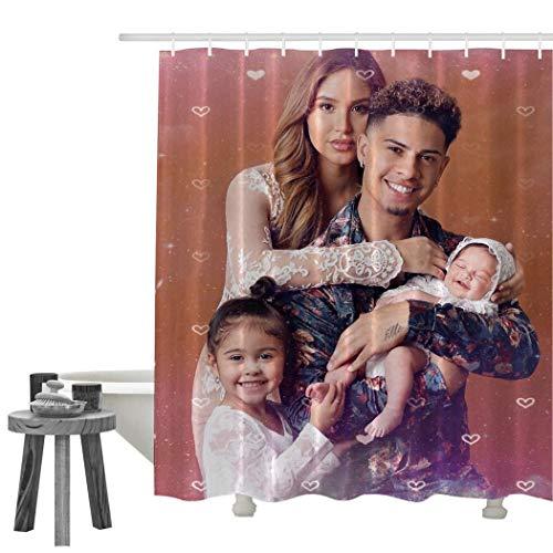 AC-E Duschvorhang, Polyester, bedruckt, wasserdicht, weiß, 70 X 84 Inch