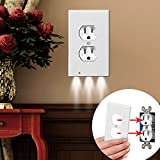 Night Angel Light Sensor LED Plug Cover Wall Outlet Coverplate Lot