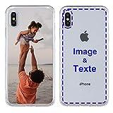 MXCUSTOM Coque Personnalisée Apple iPhone X 10 iPhone XS, Personnalisable avec Votre Propre Photo...