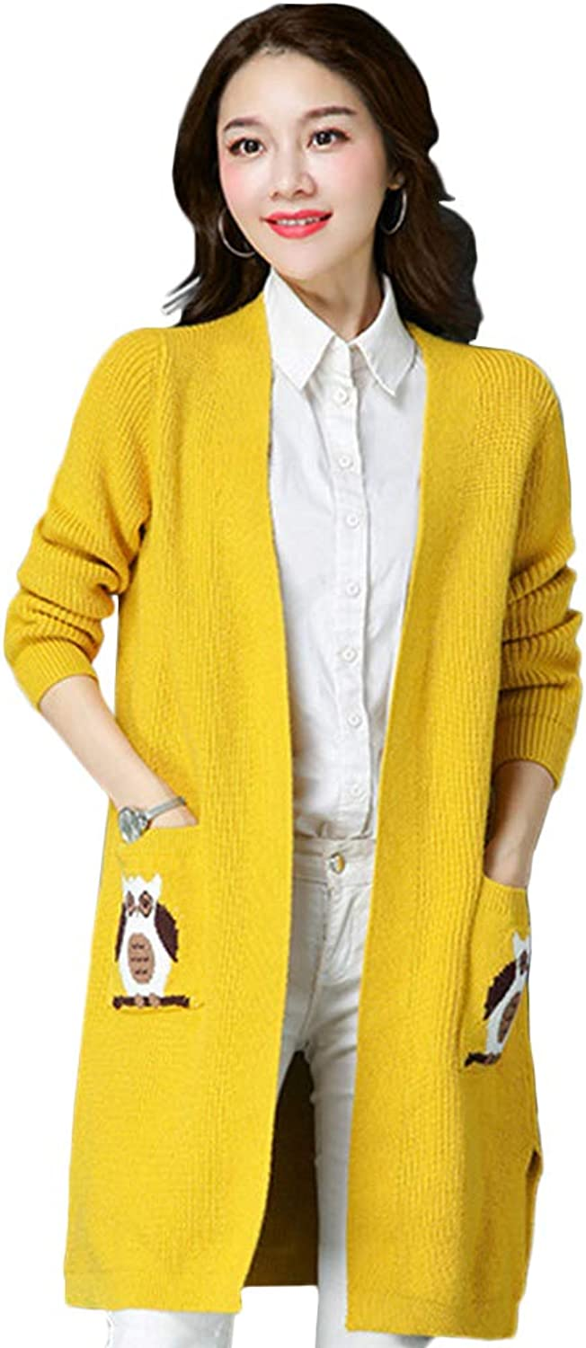 My Sky Womens Fashion Open Front Long Sleeve Knitting Cardigans Sweater
