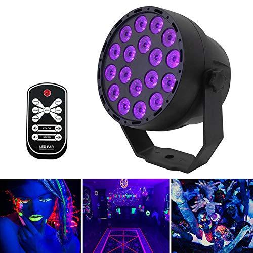 Lumière Noire UV 18LEDs 7 Modes Led Lumière de Scène DMX Pro