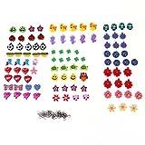 Tinksky Set de 100 piezas de muñecas colgantes freckles and Gilbert colgante para pulseras de gomas elásticas de arcoíris Loom DIY
