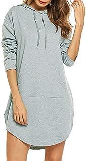Cárdigans Jerséis Tamaño del otoño camiseta de las mujeres de largo sudaderas suelta más 3XL 4XL 5X túnica de vestir de ma...