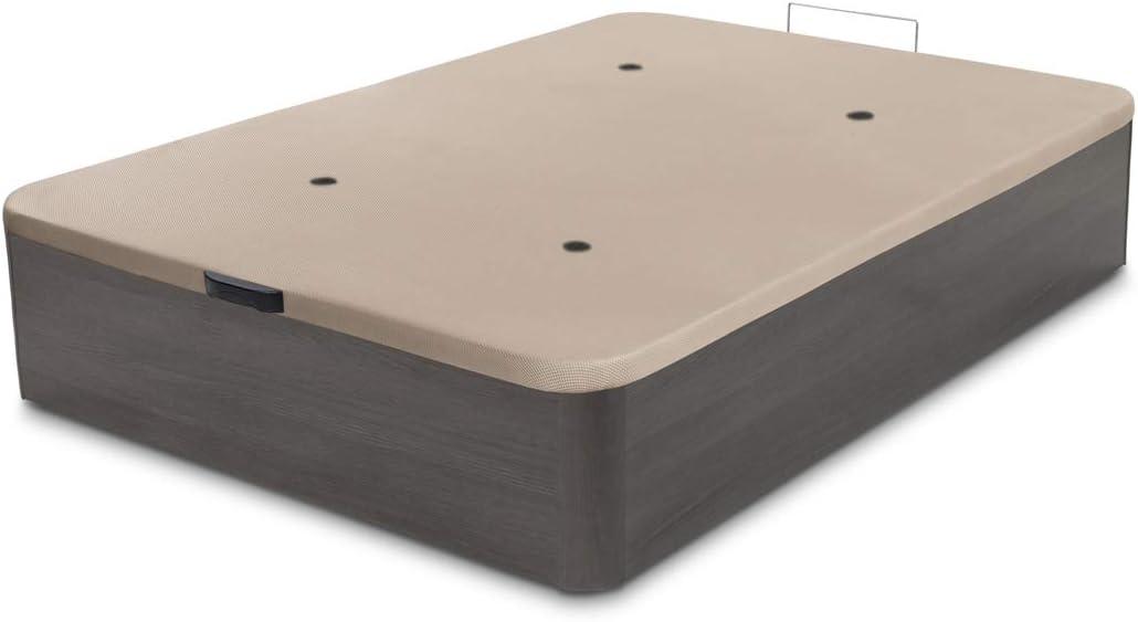 Dormidán - Canapé abatible de Gran Capacidad con Esquinas Redondeadas en Madera, Base tapizada 3D Transpirable + 4 válvulas aireación 90x190cm Color ...