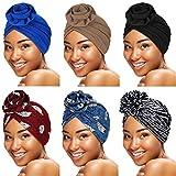 Best Turbans - SATINIOR 6 Pieces Women Turban African Pattern Headwrap Review
