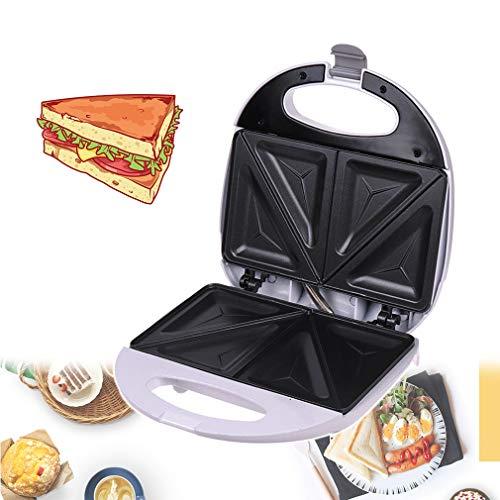 HUA JIE Sandwich Tostadora-Toastie Cafetera, con climatizada uniformemente en Ambos Lados, Platos hondos Revestimiento Antiadherente, automática de la Temperatura de Control, 750W
