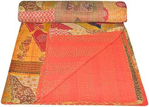 Yuvancrafts Indian Vintage Patchwork Cheap bargain Twin Kantha Th Cotton Quilt 5 popular