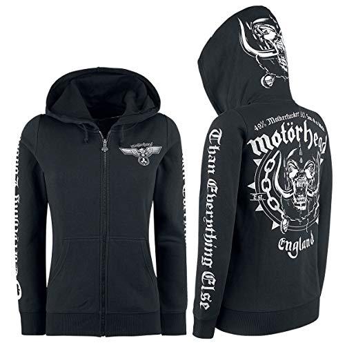 Motörhead England Frauen Kapuzenjacke schwarz M 70% Baumwolle, 30% Polyester Band-Merch, Bands