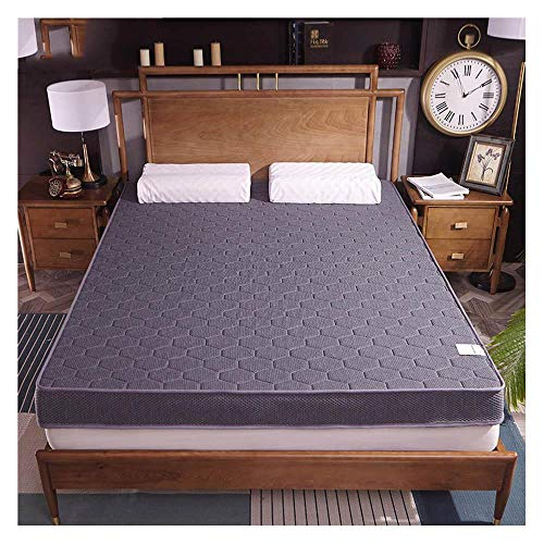Yuan Ou Mattress Knitted fabric Natural latex Mattresses single student dormitory Tatami Double home Three-dimensional Mattress 200x200cm(79x79in) gray 5 cm