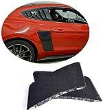 Pala de guardabarros trasero adecuada para Ford Mustang Gt Coupé Cabrio 2015-2019 Fibra de carbono Cf Paneles laterales Cubierta de evaporación de aire Paneles de ventilación Etiqueta de decoración 2