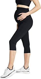 Rockwear Activewear Women's Maternity 3/4 Tight from Size 4-18 for 3/4 Length Ultra High Bottoms Leggings + Yoga Pants+ Yo...
