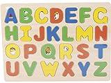 NATURPLAY Puzzle Madera Letras Mayúsculas