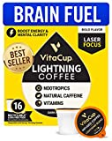 VitaCup Lightning Blend Nootropic Coffee Pods 16ct Intense Energy Focus | Vitamin-Infused Coffe…