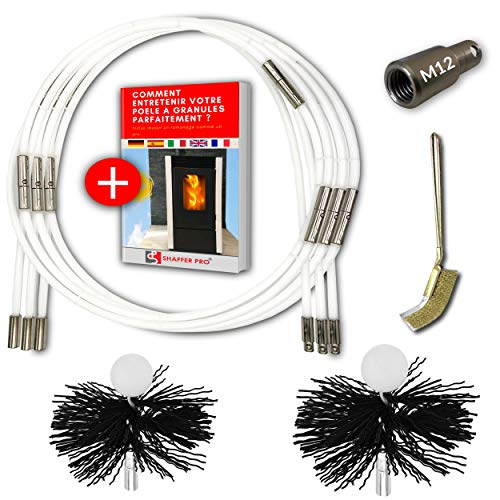 SHAFFER PRO - kit de deshollinador de chimeneas estufa de pe