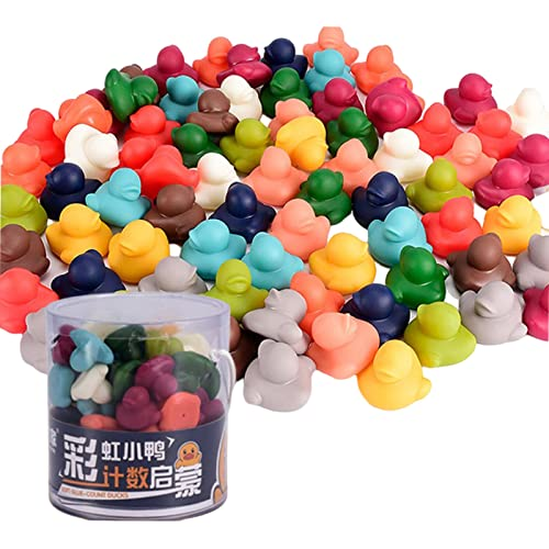 Sharplace Colorful Kids Counting Toys Duck Dinosaur Game Bath Toys for Girl/Boy 2-3Year Old - 78pcs