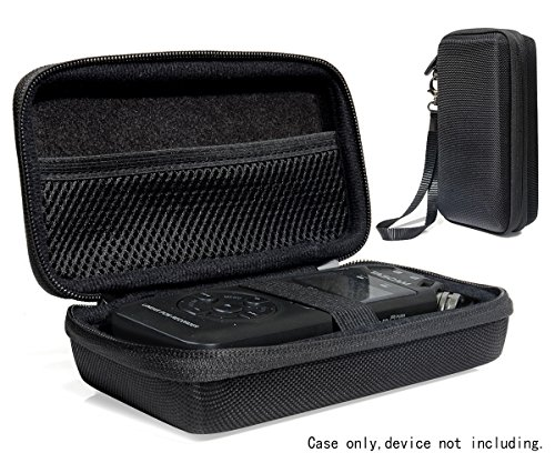 Professional Portable Recorder Case for Tascam DR-05, DR-40, DR-100MKII Music Recorder with mesh pocket cable, outdoor Microphone Windscreen Muff, Elastic strap, Strong and light weight hard case