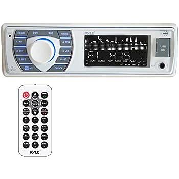 amazon.com: pyle bluetooth marine receiver stereo - 12v single din style  boat in dash radio receiver system with digital lcd, rca, mp3, usb, sd, am  fm radio - remote control, wiring harness -  amazon.com