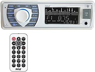 Pyle Bluetooth Marine receptor estéreo – 12 V único estilo DIN barco en tablero de sistema de receptor de radio con LCD di...