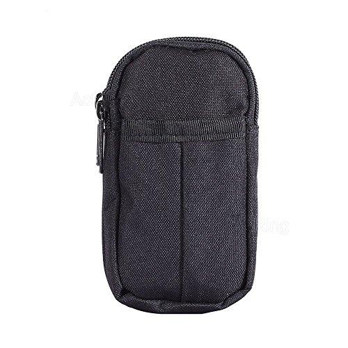 Militar bolsa de cinturón portátil proteger caso para Garmin eTrex Touch 25 35 (negro)
