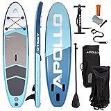 Apollo Tabla Sup – Set Completo para Sup Paddle – Tabla de Paddle Surf Hinchable con Remo, Bomba y Kit de Reparación – Tabla de Remo para Principiantes y Profesionales