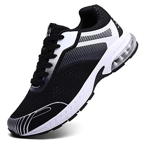 XIDISO Running Shoes Womens Air Trail Mesh Sneakers Athletic Walking Cross Training Tennis Sports Shoe for Women Black