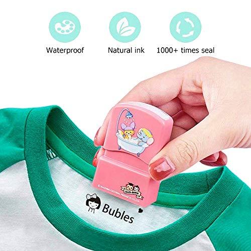 Sello de ropa personalizado Sello de nombre autoentintado personalizado Ropa de uniforme escolar Tela Textil Mark Stamper para niños Camisetas