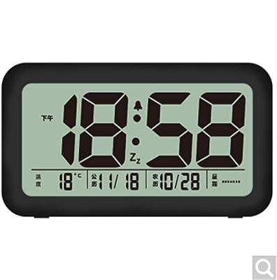 CHAOQUN Reloj Despertador applet electrónico Inteligente Informe de Voz Despertador luz Inteligente luz automática Tres Grupos