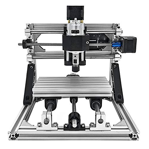 VEVOR CNC Router Machine CNC 1610 3 Axis GRBL Control with ER11 and 5mm Extension Rod for Plastic Acrylic PCB PVC Wood Carving DIY Ideas, XYZ Working Area 160x100x40mm