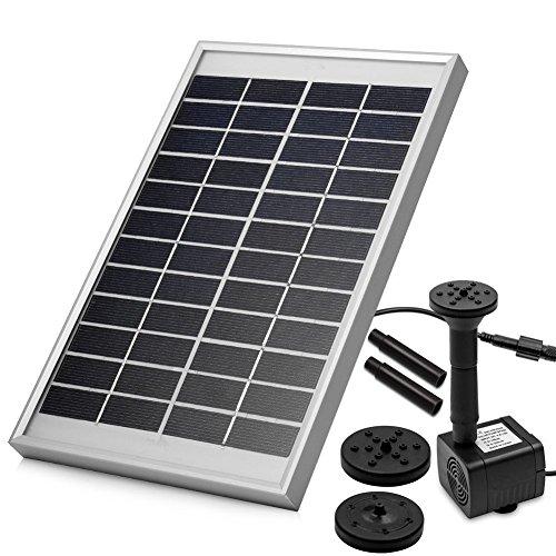 LUXJET® 5W Solar Bombas para Fuentes,Bomba de Agua Solar, para el jardín, el Patio, Estanque, etc. Flujo máximo 200L / h