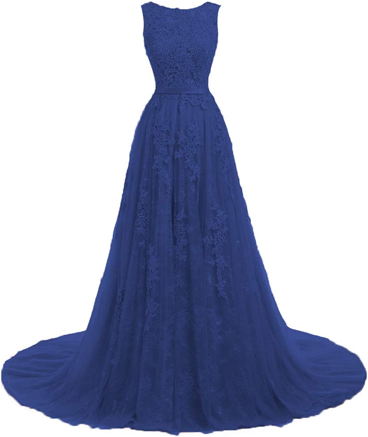 Cdress Lace Prom Dresses Long Evening Party Gowns Tulle Maxi Wedding Formal Dress Appliques Flora